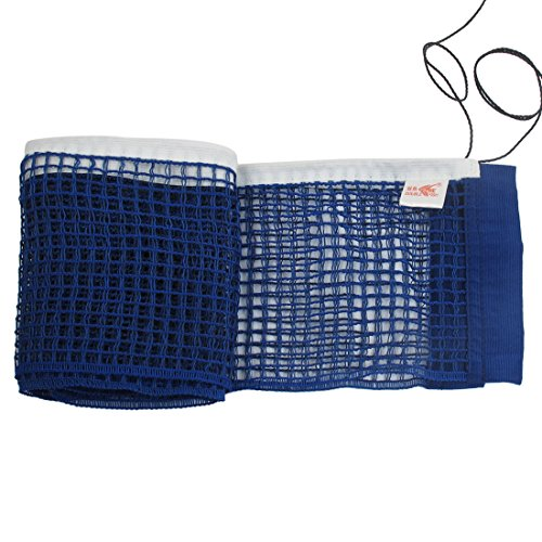 Uxcell a12071300ux0280 Deep Blue Nylon Table Tennis Fitness Ping Pong Net Set Organizer w Pull String -