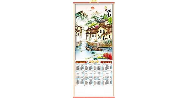 Amazon.com: Feng Shui Import 2019 - Calendario de pared con ...