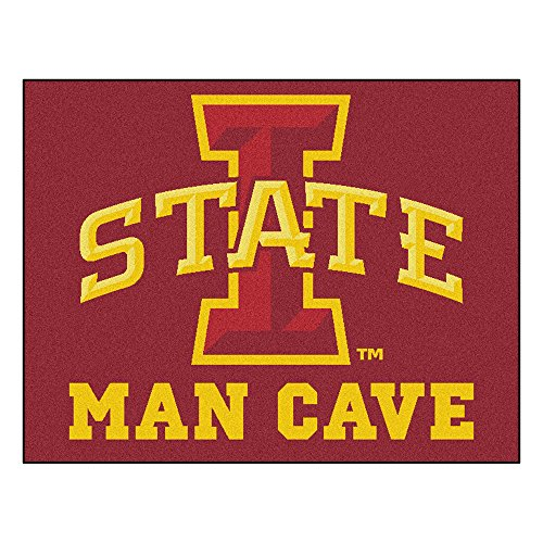 - FANMATS 14557 Iowa State University Nylon Universal Man Cave All-Star Mat
