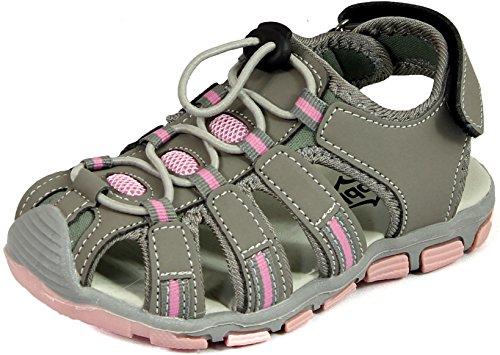 sleedy Kinder Sandale Luc Vorn Geschlossen Unisex Sandalen in Versch. Größen 25-30 und Farben Grau