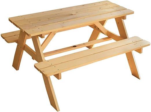 Fun House - Mesa de picnic de madera para niños: Amazon.es: Jardín