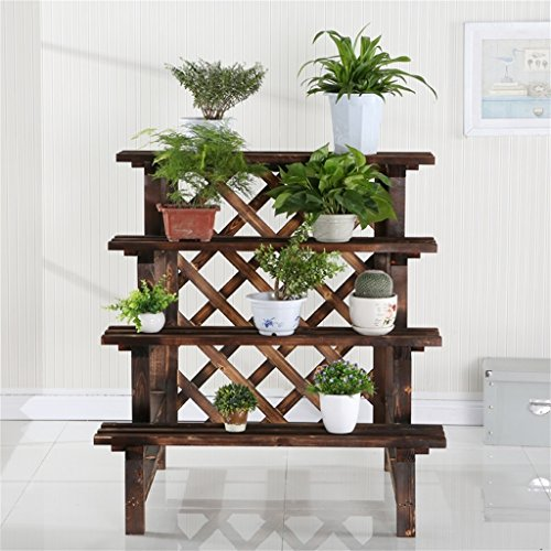 AIDELAI flower rack Flower Shelf Decoration Solid Wood Multiple Layers Flower Racks Fresh Natural Pastoral Anti-corrosion Patio Garden Pergolas ( Color : #3 ) by AIDELAI