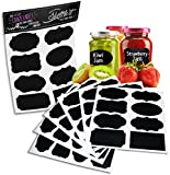 BRING AWESOMENESS TO YOUR PANTRY AND LABEL, PERSONALIZE AND GET EASILY ORGANIZED!!    Offering a beautiful, high quality vinyl design that transfers to all types of surfaces, this SketchIt® Chalkboard Labels are made from matte indoor vinyl t...