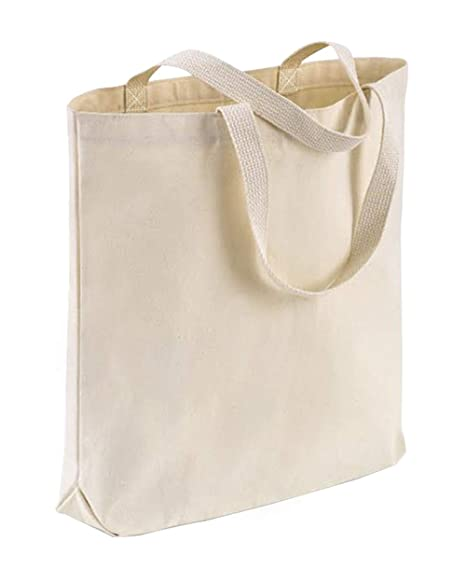 848be25f456 TBF Cotton Canvas Quality Tote Bags with Bottom Gusset for Promotions,  Shopping, Groceries, Arts & Crafts, DIY, Vinyl, Decorate