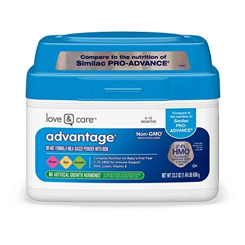 - Love & Care Advantage Infant Formula Milk-Based Powder with Iron Non-GMO, 23.2 Ounce