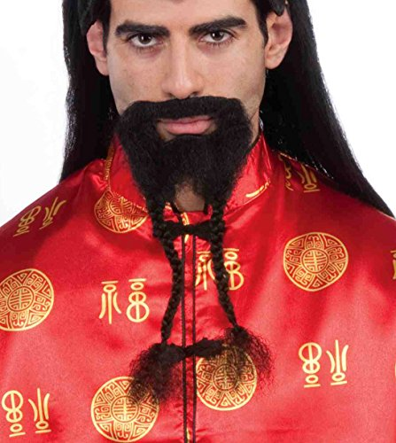 Chinese Man Costume Amazon (Forum Novelties Men's Novelty Braided Beard, Black, One Size)