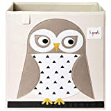 3 Sprouts Storage Box, White Owl