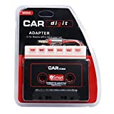 houmi Car Cassette to Aux Adapter 3.5 mm Car Audio Cassette Adapter for Phones, MP3, MP4, iPod, iPad, DVD Player, Black