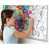 "MindWare - Color Chart: USA - Coloring Map and Picture Hunt - Teaches Creativity and Fosters Imagination - Includes 40"" x 28"" Fold-Out USA Map"