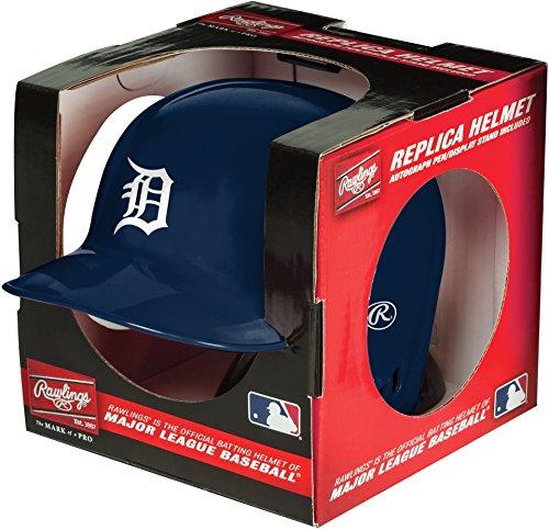 Rawlings MLB Detroit Tigers Mini Replica Helmet, Blue (Batting Tigers)