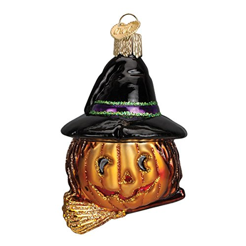 Old World Christmas Witch Pumpkin Glass Blown Ornament