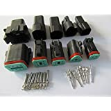 CNKF 1 Sets Deutsch DT 2P,3P,4P,6P,8P way sealed black male and female auto Waterproof Electrical Wire Connector Plug housing