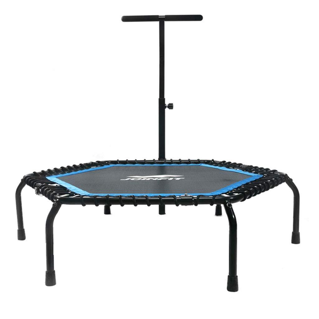 Trampolin Erwachsene kommerziellen Hause Indoor Hüpfbett springen Bett Spielzeug Krabbeln Matte mit Armlehne 50 Zoll (Farbe : Blau, Größe : 127  30  113cm)