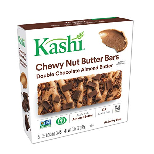 Kashi, Chewy Nut Butter Bars, Double Chocolate Almond Butter, Gluten Free, Non-GMO, 6.15 oz (5 ()