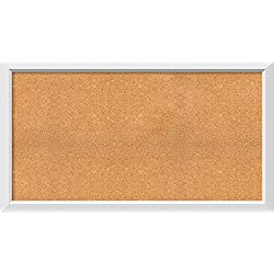 Framed Cork Board, Choose Your Custom Size, Blanco White Wood: Outer Size 54 x 30""