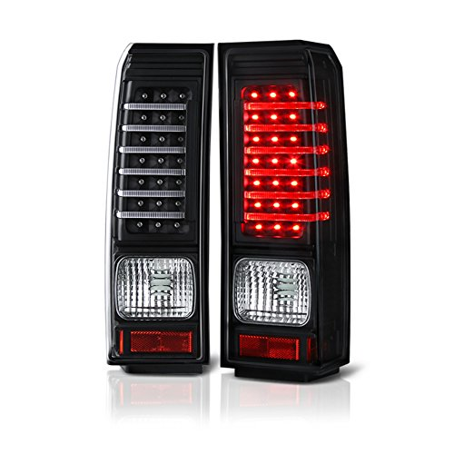 VIPMOTOZ LED Tail Light Lamp Assembly For 2006-2010 Hummer H3 - Matte Black Housing, Driver and Passenger Side
