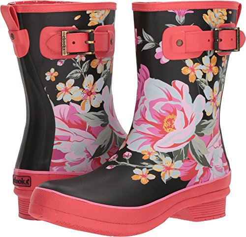 Chooka Women's Mid-height Memory Foam Rain Boot (7, Fuchsia)