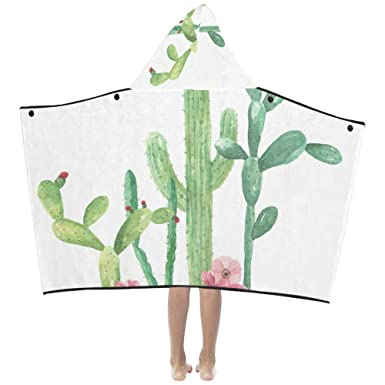 Amazon com: Hand Draw Cactus Summer Plant Soft Warm Cotton Blended