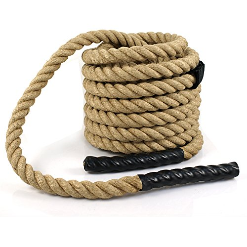 Super Deal Upgraded Manila Rope 1.5'' X 50 FT Fitness/Undualation Workout Climbing Jump Battle Rope 3 Strand w/Shirk End Caps (#4) by Super Dea (Image #5)