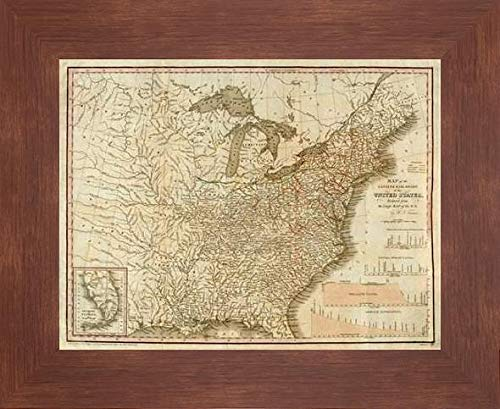 (A Connected View of The Whole Internal Navigation of The United States, 1830 by Henry Tanner - 27
