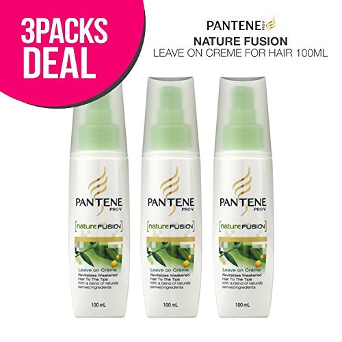 3-Pack! PANTENE Pro-V Nature Fusion Leave on Creme for Hair 100ml