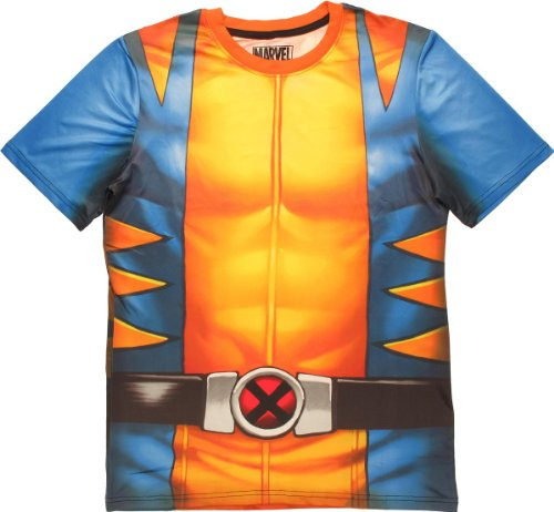 Casual Costumes Wolverine (Mad Engine Wolverine Sublimated Costume T-Shirt)