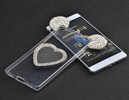Vandot 1x Exclusivo Airbag luminosa Ultra Slim delgada transparente TPU prueba de golpes Delgado para Huawei P8Lite Soft Gel claro silicona caso protector piel cubierta caja del teléfono con anti Caso AXJZ 01