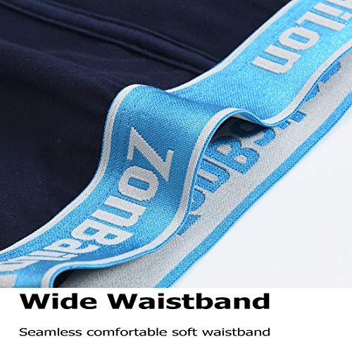 ZONBAILON Mens Comfortabel Soft Underwear, Boxer Briefs for Men in 3 Pack 4 Pack M~3XL