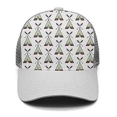 Casual Baseball Caps Boho Teepee Native tribal-01 Vintage Adjustable Mesh Sun Hats