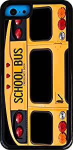 Rikki KnightTM Back Of A Yellow School Bus White Tough-It Case Cover for iPhone 5 & 5s(Double Layer case with Silicone Protection and thick front bumper protection)