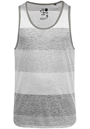 Light T Débardeur Manches Encolure Coton shirt 100 Grey Top solid Tank Rond Sans Charan 2325 Homme O4qEqn5w