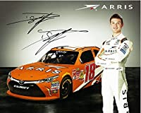 AUTOGRAPHED 2015 Daniel Suarez #18 Arris Racing (Gibbs Team) Xfinity Series Rookie 8X10 NASCAR Promo Hero Card Photo with COA from Trackside Autographs