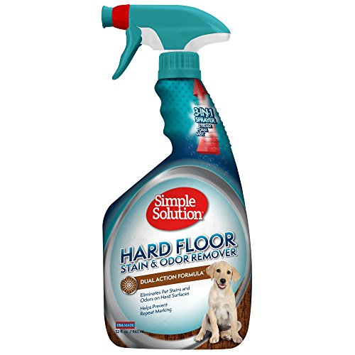 Simple Solution Hardfloor Pet Stain & Odor Remover, 32 oz, USA Made (Urine Removal Pet Odor)
