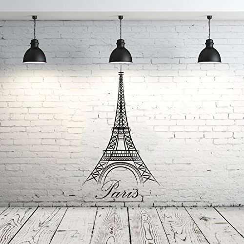 Eiffel Tower Wall Decal Vinyl Stickers Decals Art Home Decor Mural Vinyl Lettering Wall Decal Paris Silhouette France Bedroom Dorm ZX90 -