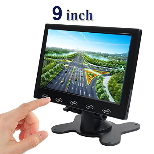 PONPY 9'' Ultra Thin 16:9 HD 800x480 TFT LCD Color Display Touch Button Monitor Screen with AV HDMI VGA Video Input for Raspberry Pi 3B+/Mini PC Display/Home Security/CCTV Camera by PONPY (Image #2)