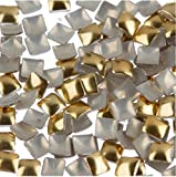 zink color beauty - Zink Color Nail Art Gold Square Metal Stud Small 100 Piece Embellishment