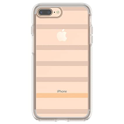 finest selection c3299 73f1f OtterBox SYMMETRY CLEAR SERIES Case for iPhone 8 Plus & iPhone 7 Plus  (ONLY) - Retail Packaging - INSIDE THE LINES (CLEAR/INSIDE THE LINES)