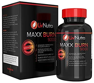Liv Nutra - The Best Fat Burner Thermogenic Weight Loss Fat Burners for Women and Men 100% Fat Burning Pills for Weight Loss Appetite Suppressant Energy Boost and Hyper Metabolizer, 60 Count