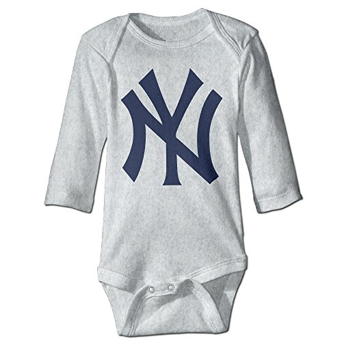 DETED Yankees Logo Funny Infant Baby's Climb Clothes Size12 Months Ash