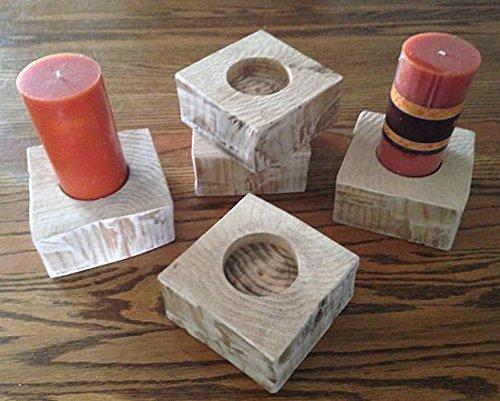 Candle Holder, free shipping (Rustic Cedar Log Holder)