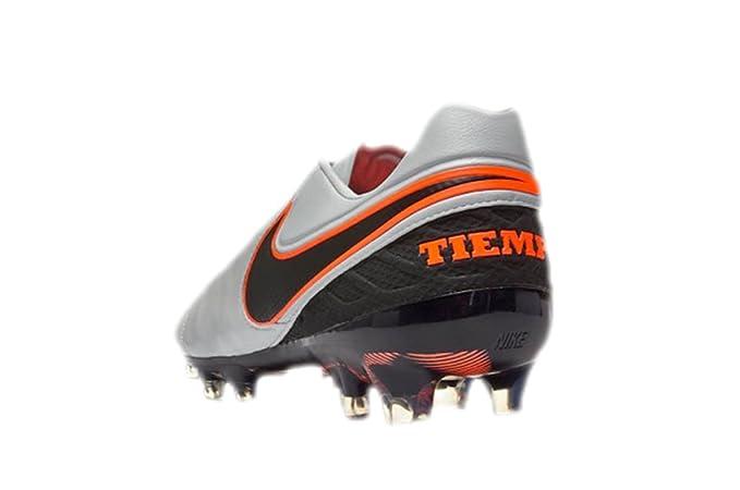 NIKE Tiempo Legend VI FG Botines De Fútbol (Púrpura Platinum/Plata Metálica/Negro) (7.5): Amazon.es: Deportes y aire libre