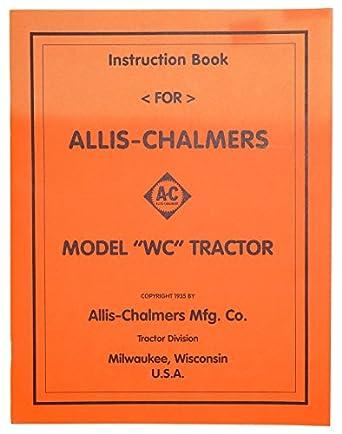 Amazon Djs Tractor Parts Operators Manual Reprint Ac Wc