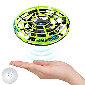 Baztoy Flying Ball RC UFO Mini Drone Flying Saucer Toys Hand Controlled Top Remote Control Fly Toy New Xmas Gifts with Cool LED Light Indoor Outdoor for Kids, Adults, Girls and Boys