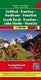 Südtirol - Trentino - Gardasee - Venetien, Autokarte 1:200.000, freytag & berndt Auto + Freizeitkarten