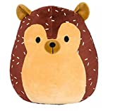 Toys : SQUISHMALLOW Hans the Hedgehog Pillow Stuffed Animal, Brown, 16""