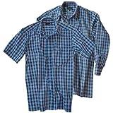 Blaukarriertes à carreaux à manches longues ou knightsbridge london chemis'à manches courtes de différentes tailles