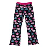 HDE Girl's Pajama Pants Soft Sleepwear Casual Loose Lounge PJ Bottoms (Hello Cats, X-Large)