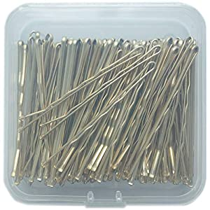 ScivoKaval Bobby Pins Bulk Champagne Gold for Blonde 100 Count Hair Bob Pins Bulk in a Case Box Tub