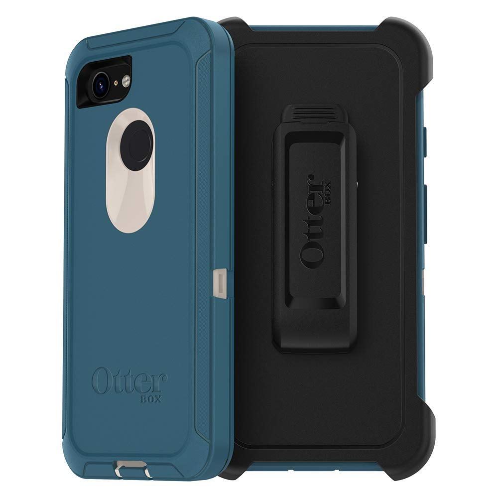 OtterBox Defender Series SCREENLESS Edition Case for Google Pixel 3 - Retail Packaging - Big SUR (Pale Beige/Corsair) by OtterBox
