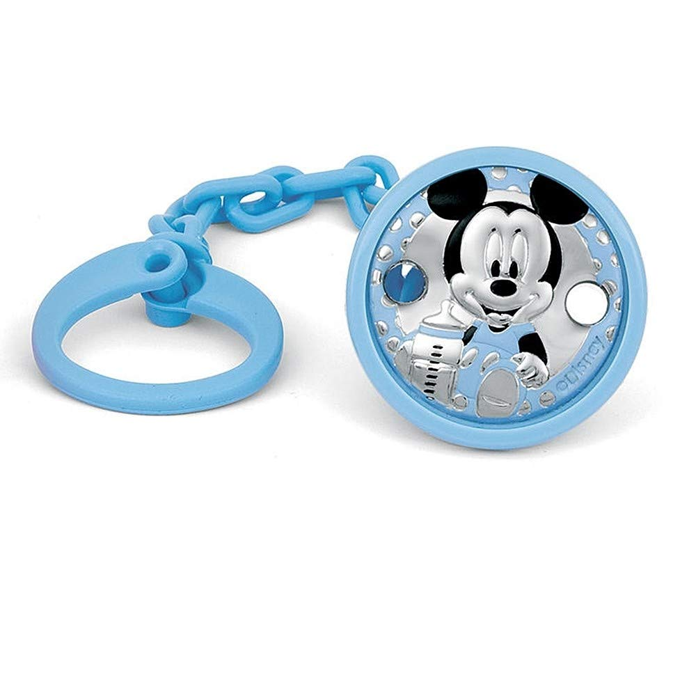 AB9999 Pinza chupete plata Ley 925m beb/é Disney bilaminado Mickey